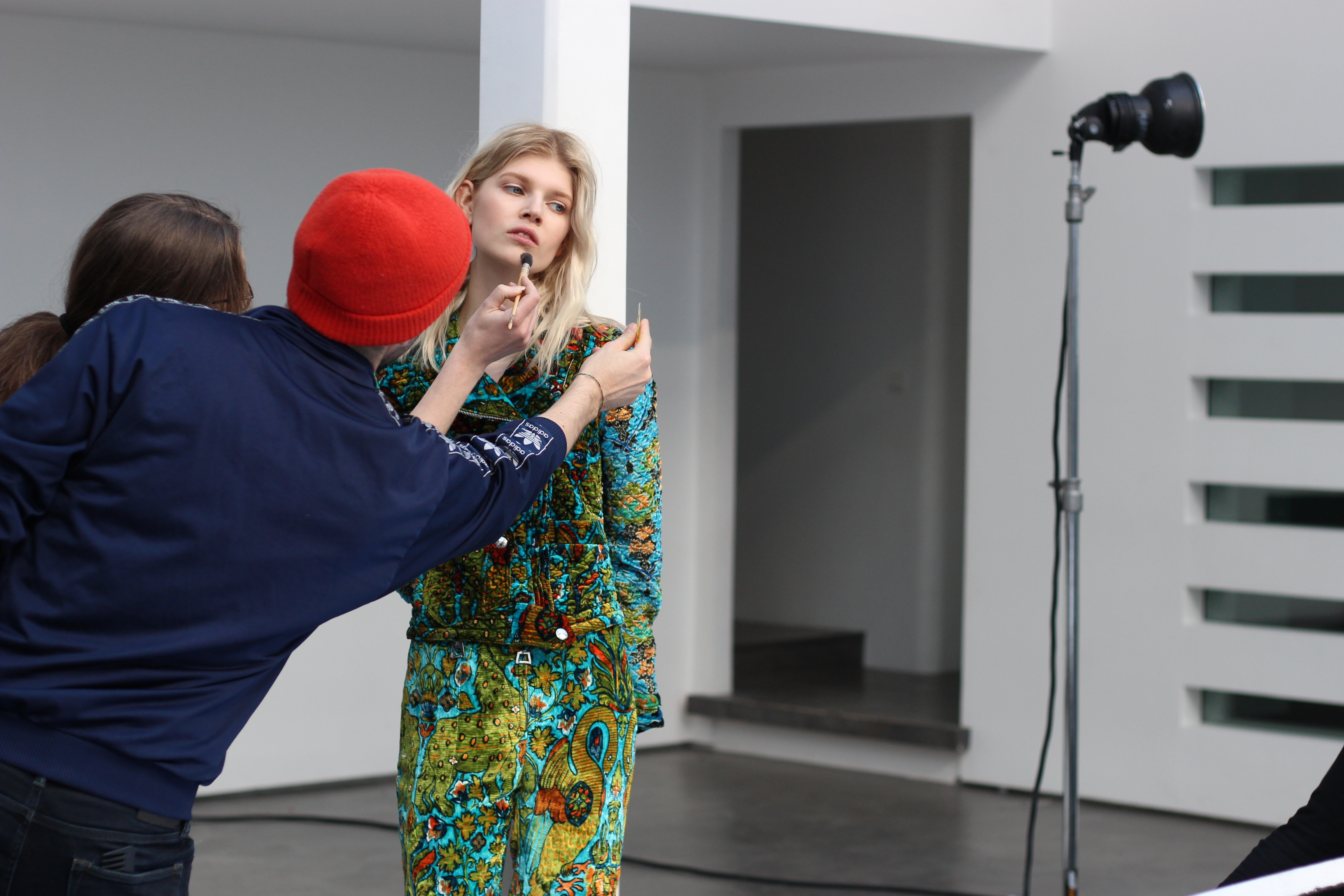 Behind the scenes of Louis Vuitton cover shoot